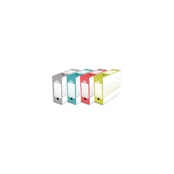 ELBA Boîte archives dos 10 cm en carton montage automatique, coloris assortis (photo)