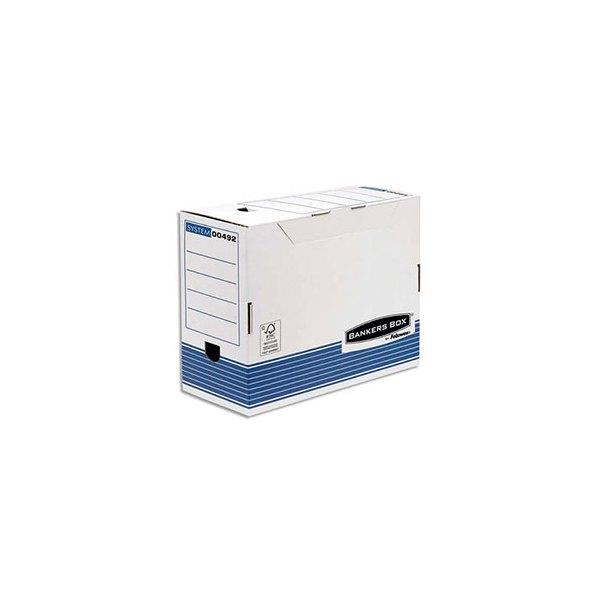 bankers box bo te archives dos 15 cm system fsc blanc bleu livr 24h. Black Bedroom Furniture Sets. Home Design Ideas