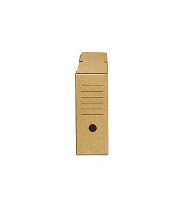 NEUTRE Boîte à archives eco, dos de 15 cm, en carton ondulé kraft brun