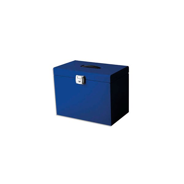 PIERRE HENRY Valise de classement en métal. Livrée avec 5 dossiers. 36,5 x 28 x 22 cm. Coloris bleu