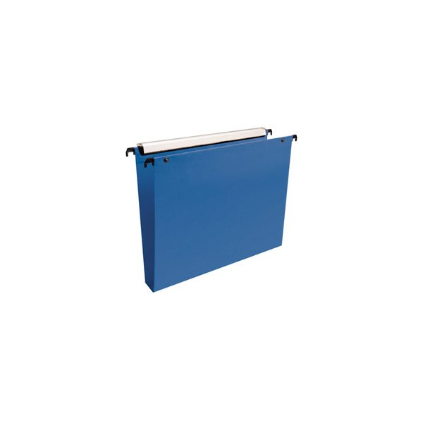 ESSELTE Paquet de 10 dossiers suspendus TIROIR en polypropylène. Fond 50 mm. Bleu