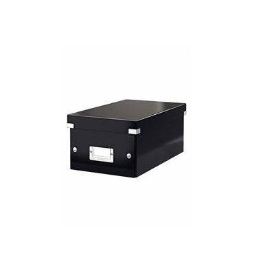 LEITZ Boîte de rangement pour DVD Click & Store coloris WOW Noir