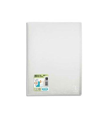 ELBA Protège-documents 2nd LIFE en polypropylène translucide, 20 pochettes, 40 vues, coloris incolore