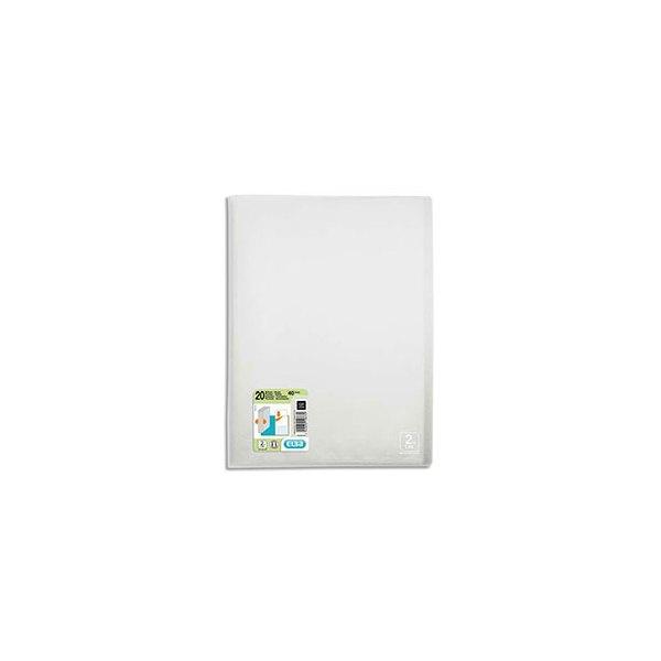 OXFORD Protège-documents 2nd LIFE en polypropylène translucide, 20 pochettes, 40 vues, coloris incolore