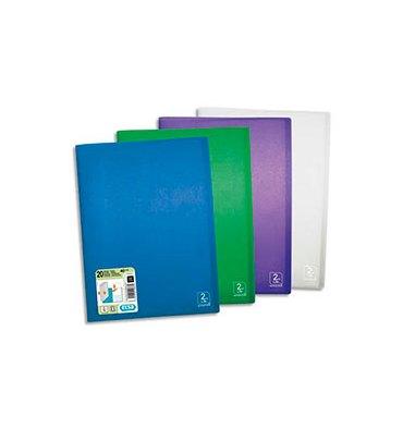 ELBA Protège-documents 2nd LIFE en polypropylène translucide, 20 pochettes, 40 vues, coloris assortis