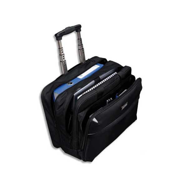 LIGHTPAK Pilot Case Trolley noir en polyester compartiments + poches