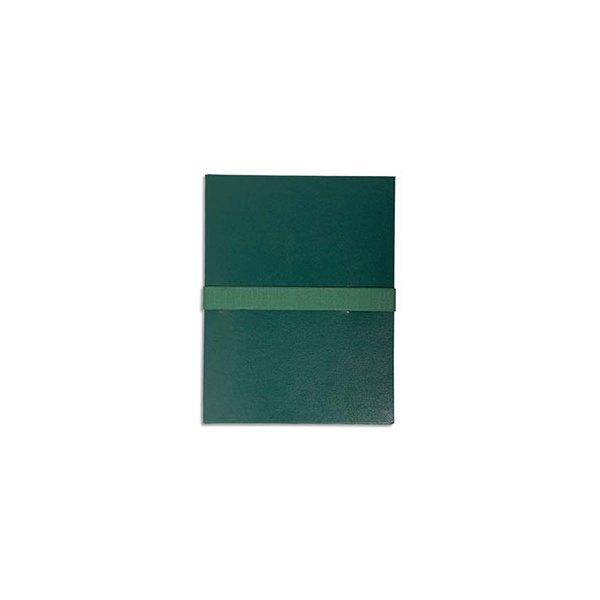 EXACOMPTA Chemise extensible en balacron, fermeture par sangle velcro, coloris vert foncé