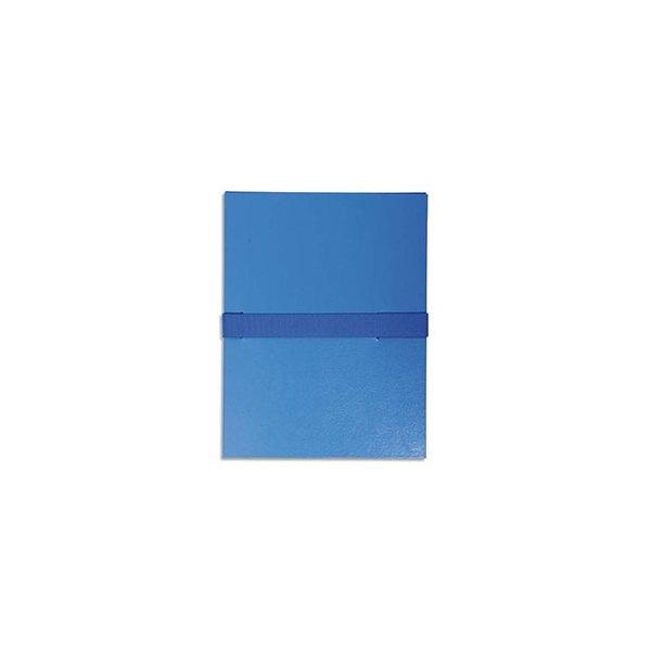 EXACOMPTA Chemise extensible en balacron, fermeture par sangle velcro, coloris bleu