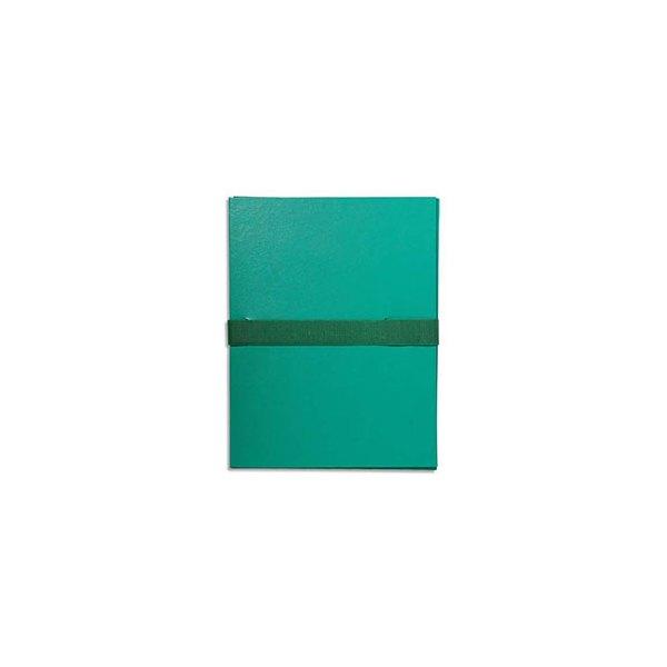 EXACOMPTA Chemise extensible en balacron, fermeture par sangle velcro, coloris vert clair