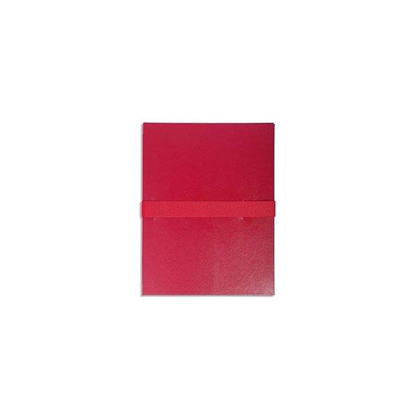 EXACOMPTA Chemise extensible en balacron, fermeture par sangle velcro, coloris bordeaux