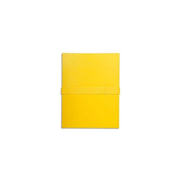 EXACOMPTA Chemise extensible en balacron, fermeture par sanglevelcro, coloris jaune