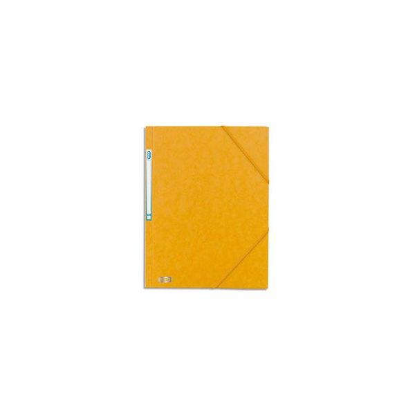 ELBA Chemise 3 rabats à élastique BOSTON en carte lustrée 5/10e, format A4, coloris jaune et noir