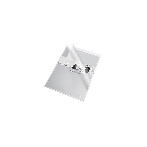 ESSELTE Boîte de 100 pochettes-coins en PVC 20/100e, coloris incolore