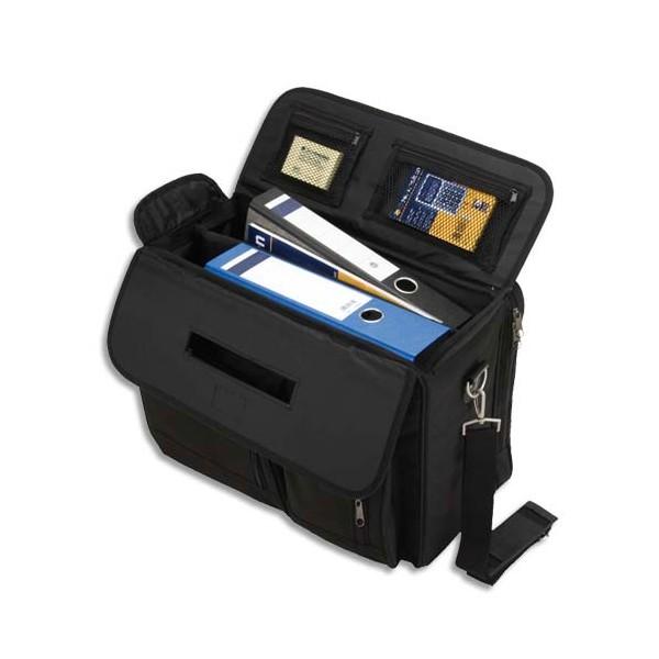 LIGHTPAK Pilot Case noir en nylon polyester compartiments + poches