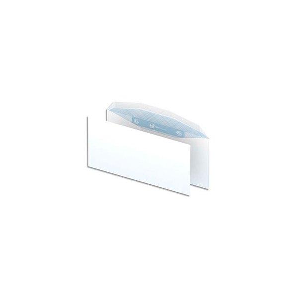 NEUTRE Boîte de 1000 enveloppes blanches gommées 80g pour mise sous pli automatique format DL2 114 x 229 mm