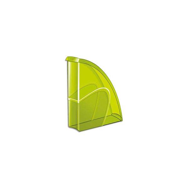 CEP PRO BY CEP Porte-revues HAPPY en polystyrène translucide - 31 x 27 cm, dos 8,5 cm. Coloris vert bambou