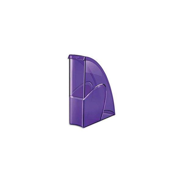 CEP PRO BY CEP Porte-revues HAPPY en polystyrène translucide - 31 x 27 cm, dos 8,5 cm. Coloris ultra violet