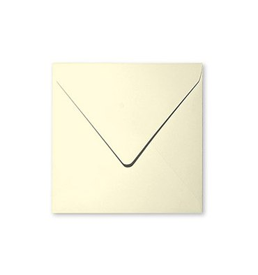 CLAIREFONTAINE Paquet de 20 enveloppes 120g POLLEN 16,5 x 16,5 cm. Coloris ivoire