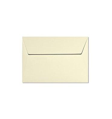 CLAIREFONTAINE Paquet de 20 enveloppes 120g POLLEN 9 x 14 cm. Coloris ivoire