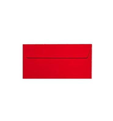 CLAIREFONTAINE Paquet de 20 enveloppes 120g POLLEN 11 x 22 cm (DL). Coloris rouge groseille