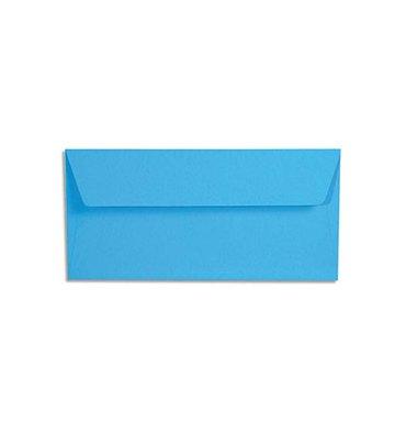 CLAIREFONTAINE Paquet de 20 enveloppes 120g POLLEN 11 x 22cm (DL). Coloris bleu turquoise
