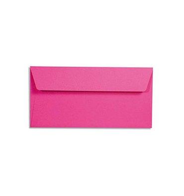 CLAIREFONTAINE Paquet de 20 enveloppes 120g POLLEN 11 x 22 cm (DL). Coloris rose fuchia