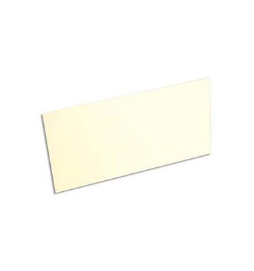 CLAIREFONTAINE Paquet de 20 enveloppes 120g POLLEN 11 x 22 cm (DL). Coloris ivoire