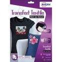 AVERY Papier Textile transfert T-shirt noir ou foncé, pochette de 4 feuilles