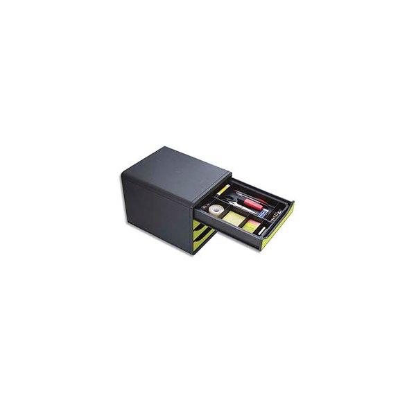 EXACOMPTA Organisateur pour tiroir DRAWINSERT, compartiments amovibles. 29,8 x 24,6 x 3,6 cm. Noir