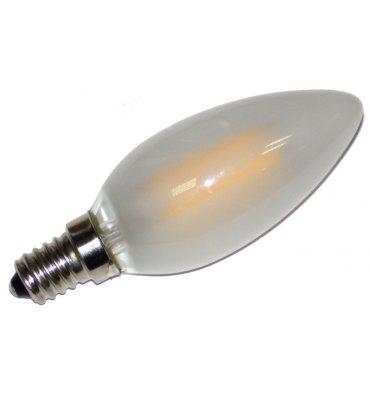 ADES Carton de 10 ampoules LED Flamme COG dépolie 4W E14