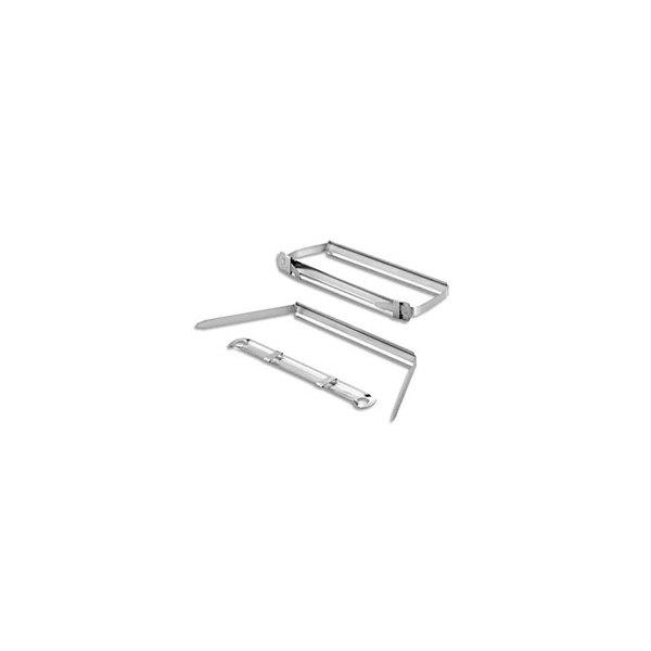 JPC Boîte de 50 relieurs en métal pour documents perforés. Ecartement 8 cm