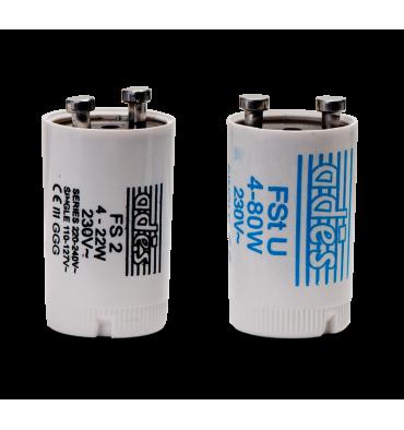 ADES Carton de 25 Starters pour Tube Fluorescent FSTU 4-80 W
