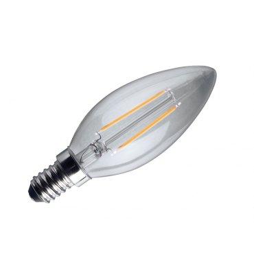 ADES Carton de 10 ampoules LED Flamme COG 2W E14