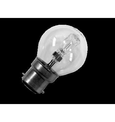 ADES Carton de 10 ampoules Halogène Sphérique 18W B22