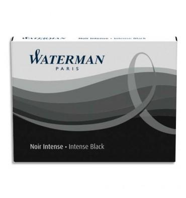 WATERMAN Etui de 8 cartouches longues encre noir intense