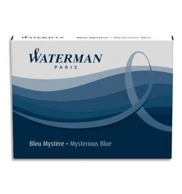 WATERMAN Etui de 8 cartouches longues encre bleu mystère