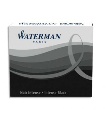 WATERMAN Etui de 6 mini cartouches encre noire intense