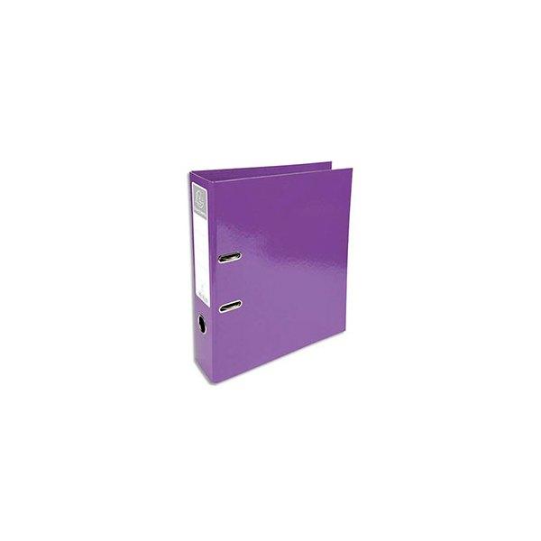 EXACOMPTA Classeur à levier IDERAMA dos 70 mm Prem'Touch coloris violet