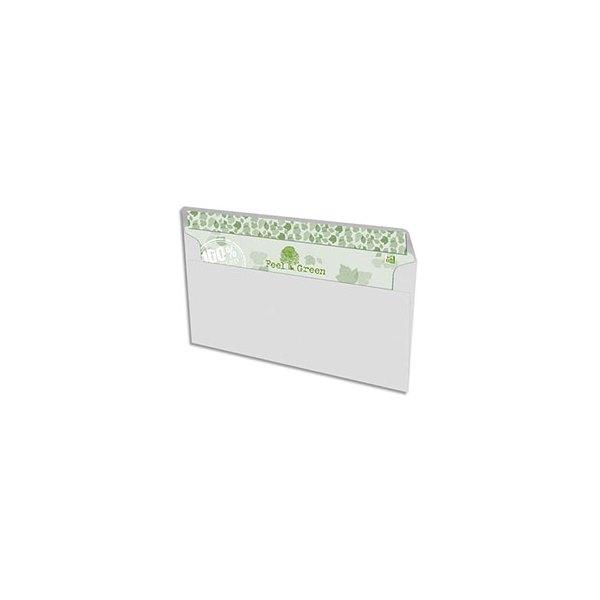 OXFORD Enveloppes recyclées Oxford - extra blanches - 90g - format DL 110 x 220 mm - boîte de 500