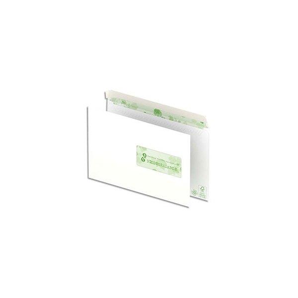 OXFORD Boîte de 500 enveloppes recyclées extra blanches 90g format C5 162 x 229 mm fenêtre 45x100 mm