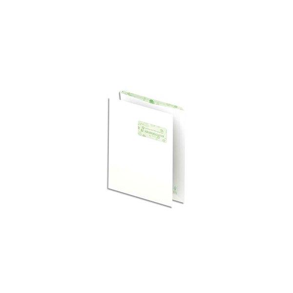 OXFORD Boîte de 500 pochettes recyclées extra blanches 90g format C4 229 x 324 mm avec fenêtre 50 x 100 mm
