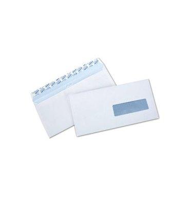 NEUTRE Boîte 500 enveloppes auto-adhésives 80g format DL 110 x 220 mm fenetre 45 x 100 mm