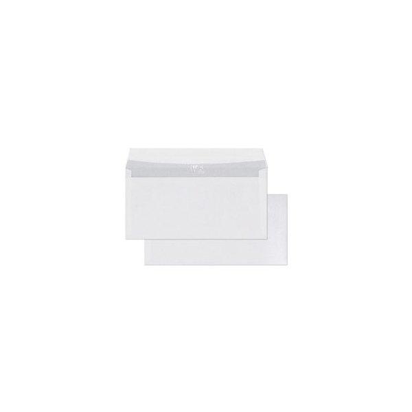 CLAIREFONTAINE Boîte de 250 enveloppes auto-adhésives 90g DL 110 x 220 mm