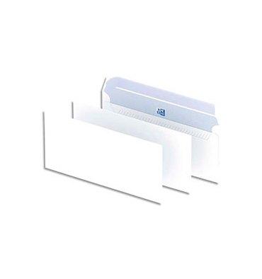 OXFORD Boîte de 500 enveloppes blanches auto-adhésives 90g format DL 110 x 220 mm