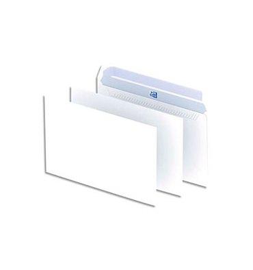 OXFORD Boîte de 500 enveloppes blanches auto-adhésives 90g format C5 162 x 229 mm