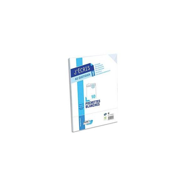 GPV Paquet de 10 enveloppes  velin blanc fond gris 90g auto-adhésives 229 x 324 mm C4