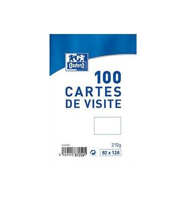 OXFORD Boîte de 100 carte de visite 210g, 82 x 128 mm