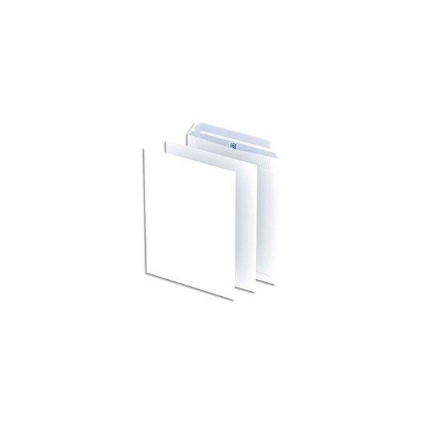 OXFORD Paquet de 250 pochettes blanches 100 g C4 229 x 324 mm auto-adhésives