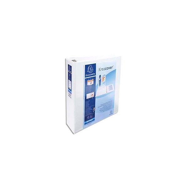 EXACOMPTA Classeur personnalisable KREACOVER 2 faces dos de 7 cm diamètre anneaux 50 mm e