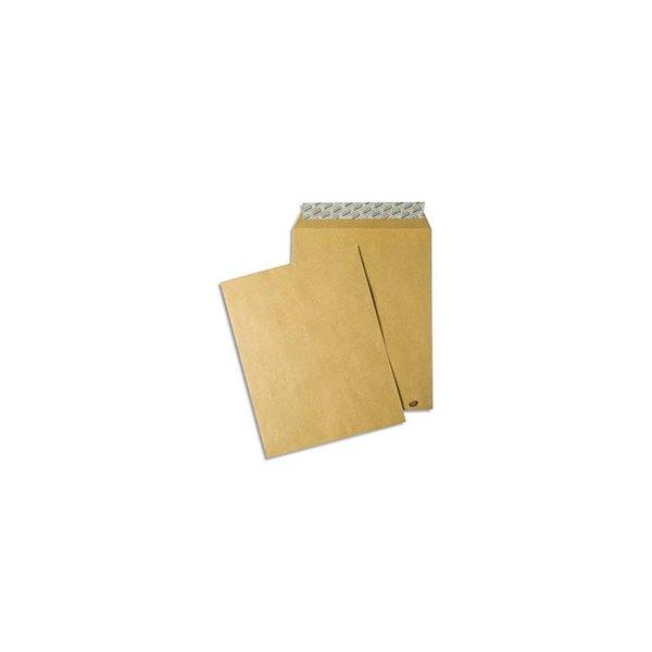 GPV Paquet de 50 pochettes kraft auto-adhésives 85g format 229 x 324 mm C4